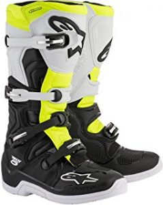Botas MX Alpinestars Tech 5 Negro-Blanco-Fluorescent (EU 44.5 / US 10, Blanco)