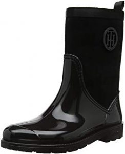 Tommy Hilfiger Warmlined Suede Rain Boot, Botas de Agua para Mujer